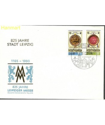 Niemiecka Republika Demokratyczna / DDR 1990 Mi 3316-3317 FDC