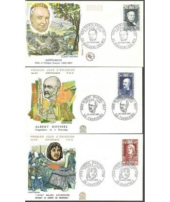 Francja 1969 Mi 1660-1662 FDC