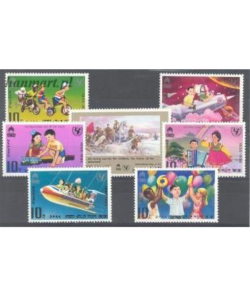 Korea Północna 1980 Mi 1954-1960 Czyste **