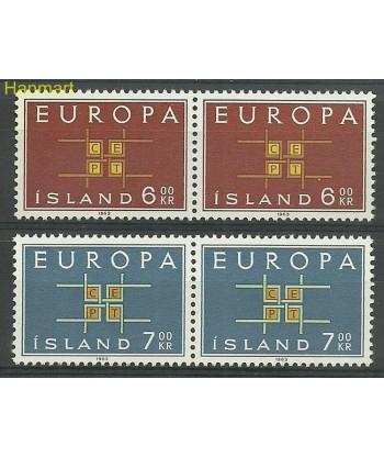 Islandia 1963 Mi 373-374 Czyste **