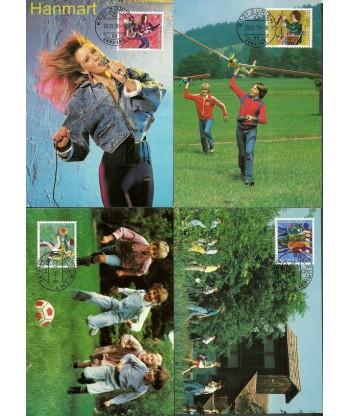 Szwajcaria 1990 Mi 1431-1434 Karta Max