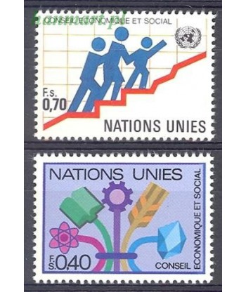 Narody Zjednoczone Genewa 1980 Mi 94-95 Czyste **