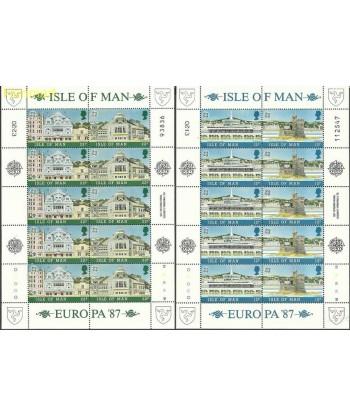 Wyspa Man 1987 Mi ark335-338 Czyste **