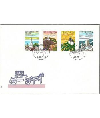 Szwajcaria 1987 Mi 1354-1357 FDC