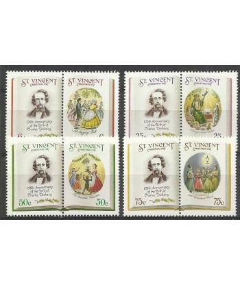 St Vincent 1987 Mi 1090-1097 Czyste **