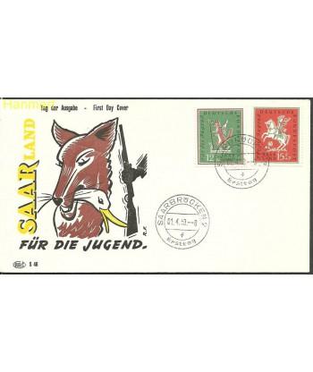 Saara 1958 Mi 433-434 FDC