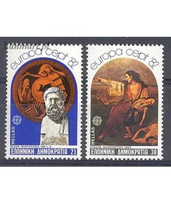 Grecja 1982 Mi 1481-1482 Czyste **