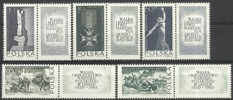 Polska 1964 Mi zf1533-1537 Czyste **