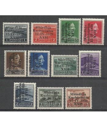 Albania 1939 Mi 284-294 MNH