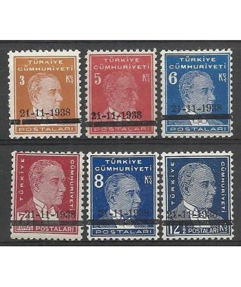 Turkey 1938 Mi 1041-1046 MNH