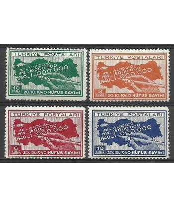 Turcja 1940 Mi 1086-1089 Czyste **