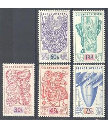 Czechosłowacja 1958 Mi 1068-1072 Czyste **