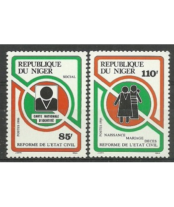 Niger 1986 Mi 982-983 Czyste **