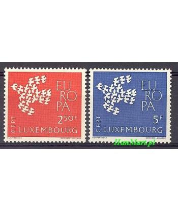 Luksemburg 1961 Mi 647-648 Czyste **