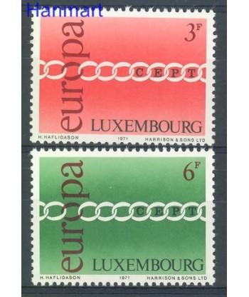 Luksemburg 1971 Mi 824-825 Czyste **
