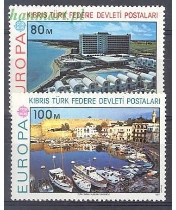 Cypr Turecki 1977 Mi 41-42 Czyste **
