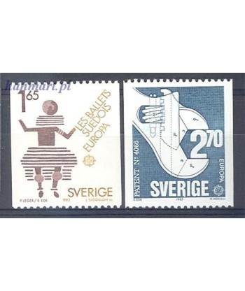 Szwecja 1983 Mi 1237-1238 Czyste **