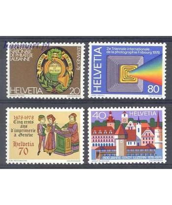 Szwajcaria 1978 Mi 1116-1119 Czyste **