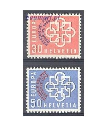 Szwajcaria 1959 Mi 681-682 Czyste **