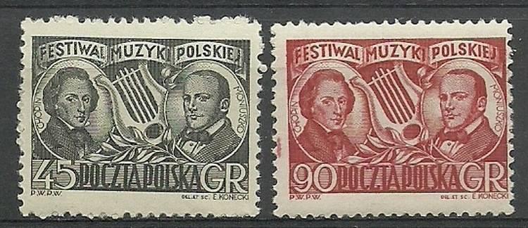 Polska 1951 Mi 709-710 Fi 571-572...