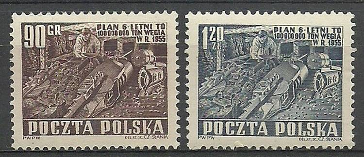 Polska 1951 Mi 715-716 Fi 577-578...