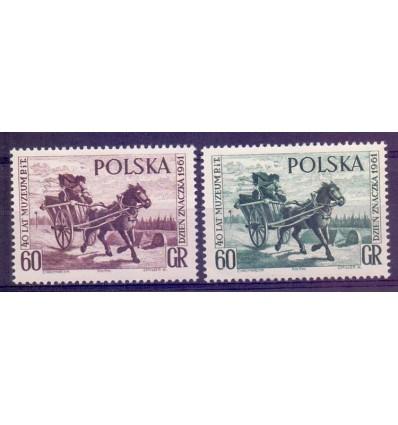 Polska 1961 Mi 1266-1267 Fi 1122a,b...
