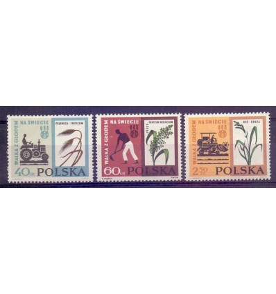 Polska 1963 Mi 1371-1373 Fi 1223-1225...
