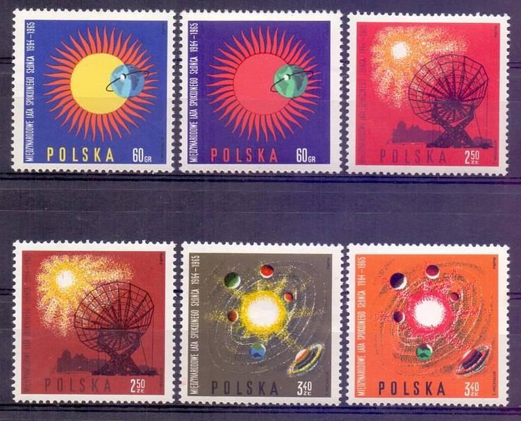 Polska 1965 Mi 1606-1611 Fi 1457-1462...