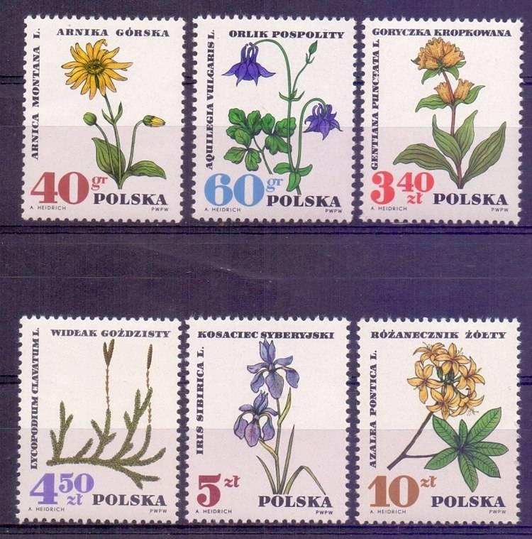 Polska 1967 Mi 1770-1775 Fi 1623-1628...