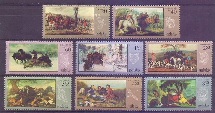 Polska 1968 Mi 1890-1897 Fi 1743-1750...