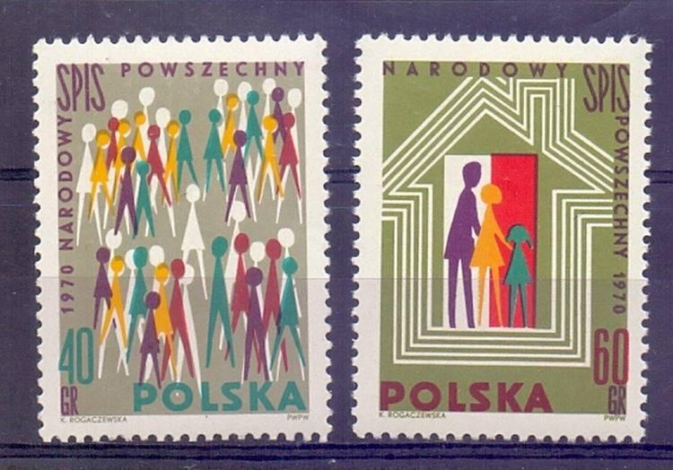 Polska 1970 Mi 2026-2027 Fi 1880-1881...