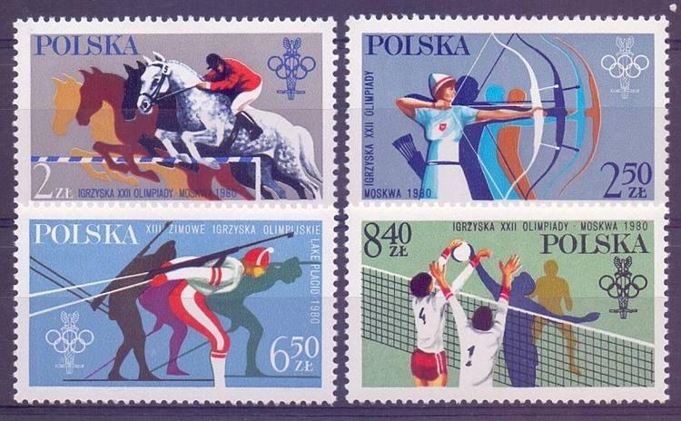 Polska 1980 Mi 2674-2677 Fi 2526-2529...