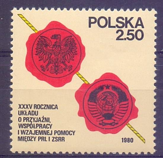 Polska 1980 Mi 2681 Fi 2533 Czyste **
