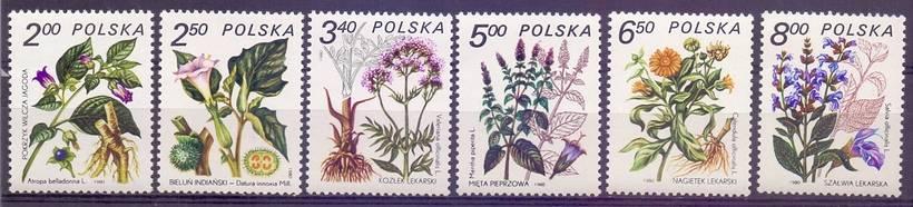 Polska 1980 Mi 2706-2711 Fi 2558-2563...