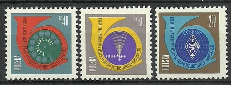 Polska 1961 Mi 1244-1246 Fi 1100-1102...