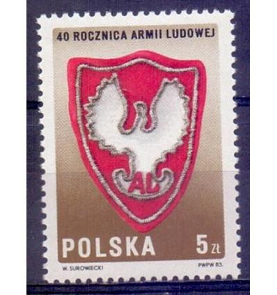 Polska 1983 Mi 2897 Fi 2749 Czyste **
