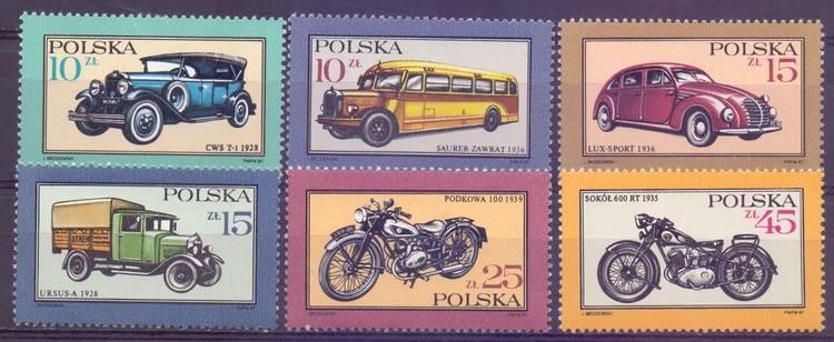 Polska 1987 Mi 3092-3097 Fi 2944-2949...