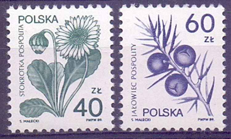 Polska 1989 Mi 3214-3215 Fi 3066-3067...