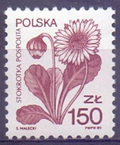 Polska 1989 Mi 3235 Fi 3087 Czyste **