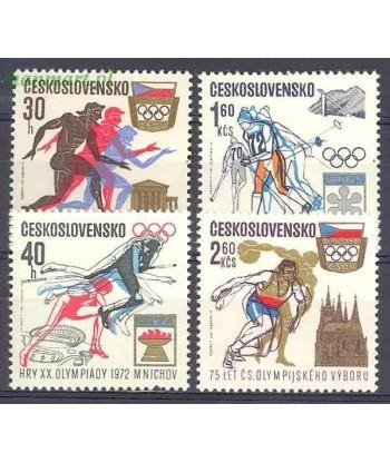 Czechosłowacja 1971 Mi 2045-2048 Czyste **