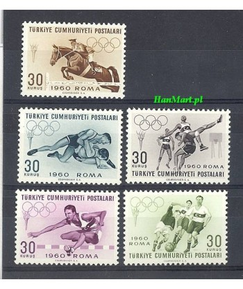 Turcja 1960 Mi 1769-1773 Czyste **