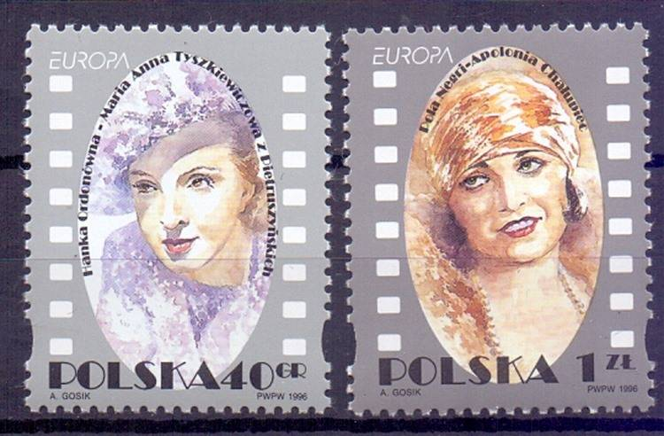 Polska 1996 Mi 3584-3585 Fi 3436-3437...