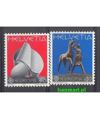 Szwajcaria 1974 Mi 1029-1030 Czyste **