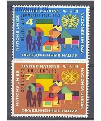 Narody Zjednoczone Nowy Jork 1962 Mi 114-115 Czyste **