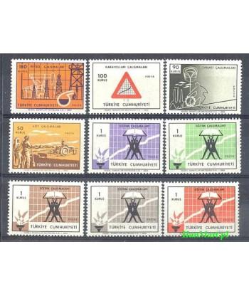 Turcja 1969 Mi 2126-2134 Czyste **