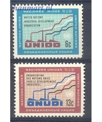 Narody Zjednoczone Nowy Jork 1968 Mi 200-201 Czyste **
