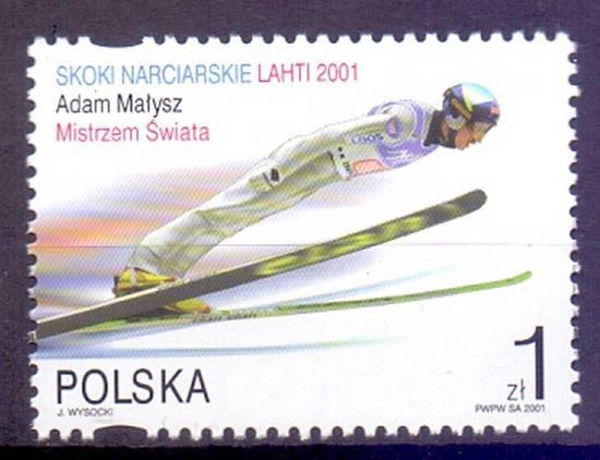 Polska 2001 Mi 3880 Fi 3730II Czyste **