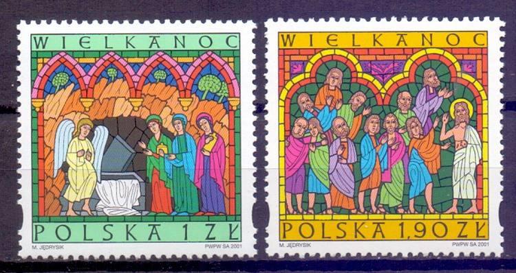 Polska 2001 Mi 3883-3884 Fi 3733-3734...