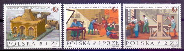 Polska 2001 Mi 3909-3911 Fi :...