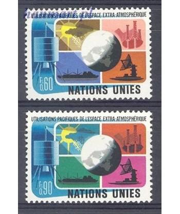 Narody Zjednoczone Genewa 1975 Mi 46-47 Czyste **